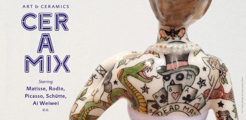 Werk van Jes Pisters in kunstuitleen tijdens CERAMIX in Bonnefanten