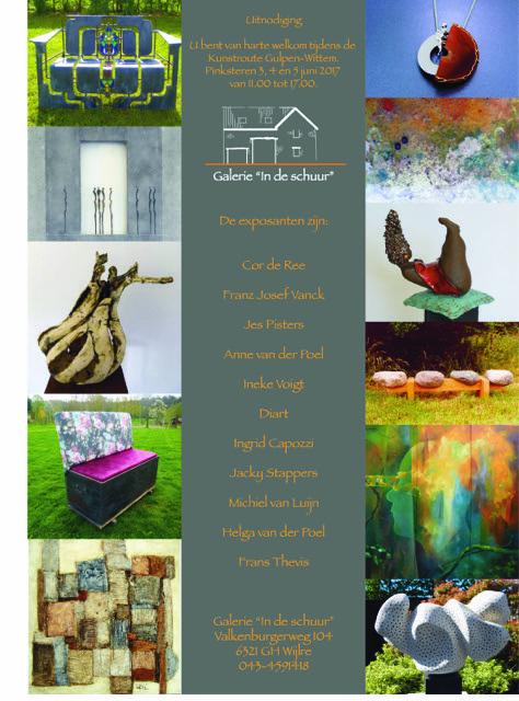 Galerie in de Schuur 3, 4 en 5 juni